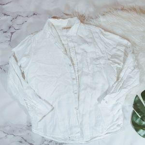 Tommy Bahama white linen shirt
